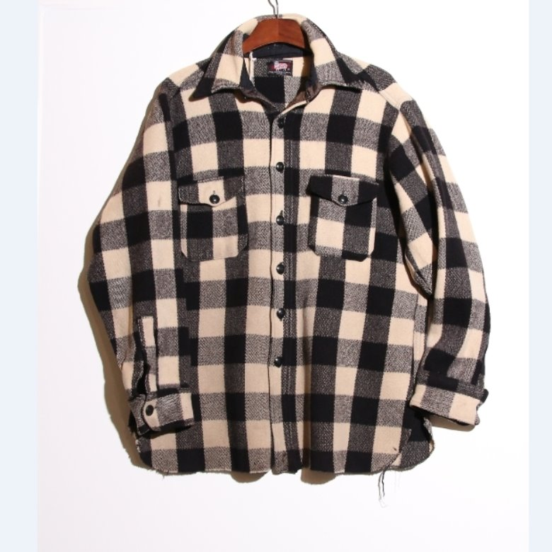 vintage 50s woolrich wool shirt (L)